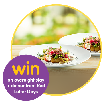 Special prize draw - Gourmet Getaway for two!